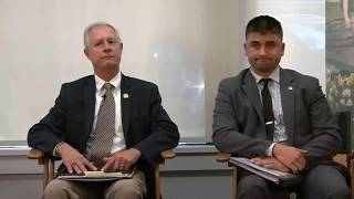 Steve Arndt and Joe Helle make a statement