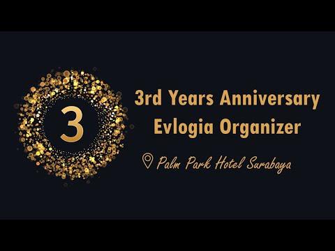 3rd Years Anniversary Evlogia Organizer