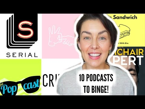 10 PODCASTS TO BINGE LISTEN NOW! How To Listen to a Podcast | AmandaMuse