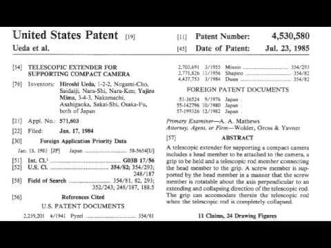 Patent:Selfie Stick Case