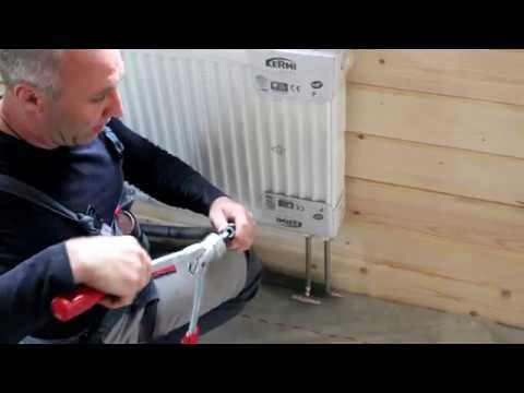 Монтаж радиатора керми FTV, сшитый полиэтилен