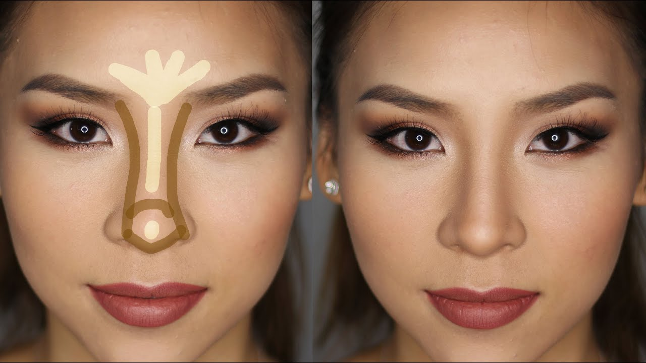 example of  how to contour the nose