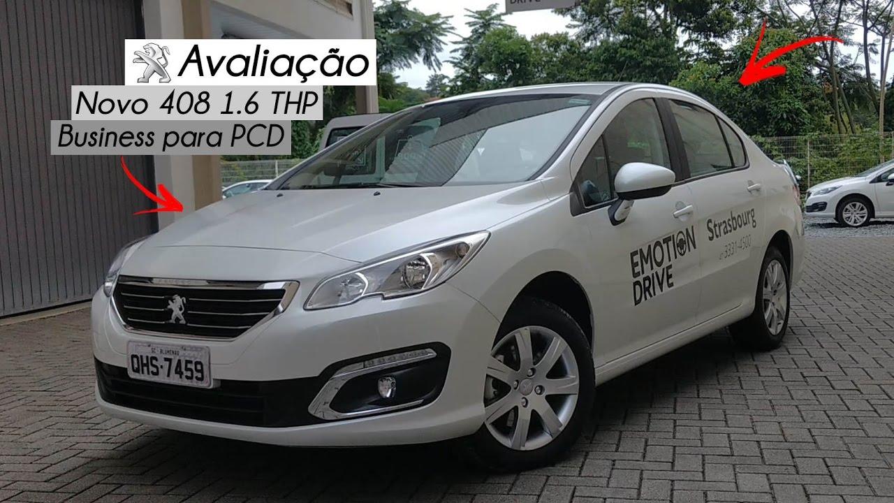Peugeot 2008 2019 >> Avaliação   Novo Peugeot 408 1.6 THP Business para PCD   Curiosidade Automotiva® - YouTube