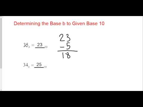 Determining the Base of a Number