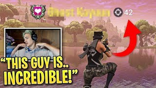 Ninja is SHOCKED When Spectating This Pro Fortnite Player... thumbnail