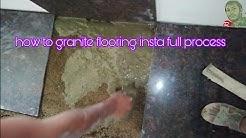 How to granite flooring install full process
