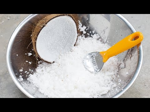 How to grate a Coconut quick and easy | Best way to grate coconut