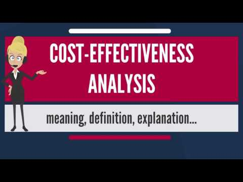 What is COST-EFFECTIVENESS ANALYSIS? What does COST-EFFECTIVENESS ANALYSIS mean?