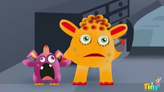 Five Little Monsters   Funny Monsters   Nursery Rhymes and Songs with Lyrics   Kids Songs