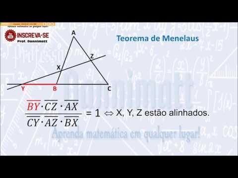 Animação do Teorema de Ceva e Menelaus
