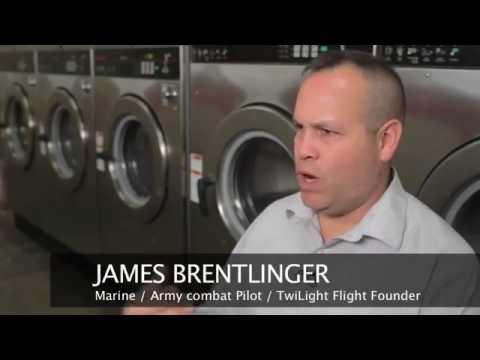 Marine / Army Combat Helicopter Pilot uses Laundromat Profit 4 CHARITY USMC