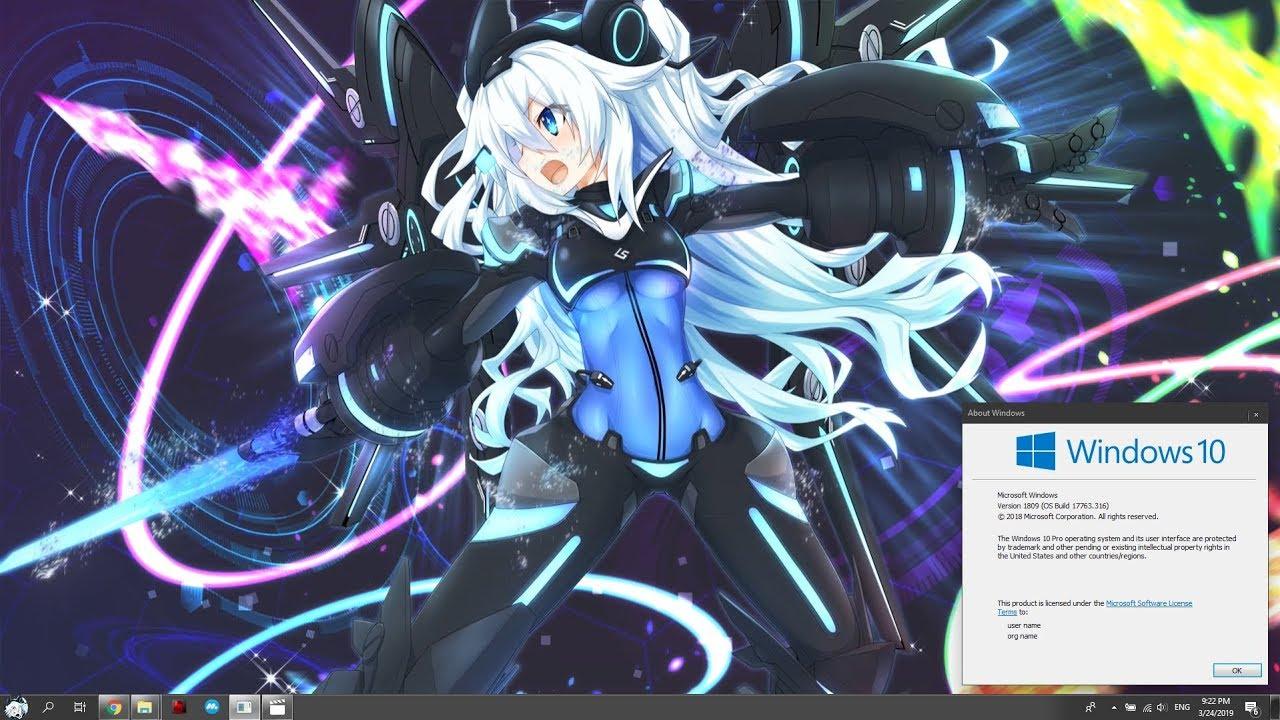 Wallpaper Engine Hyperdimension Neptunia Noire Custom Theme