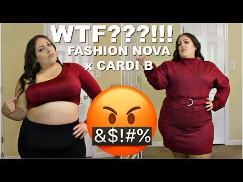 FASHION NOVA x CARDI B TRY-ON | WTF??!!! | PLUS SIZE FASHION CLOTHING HAUL