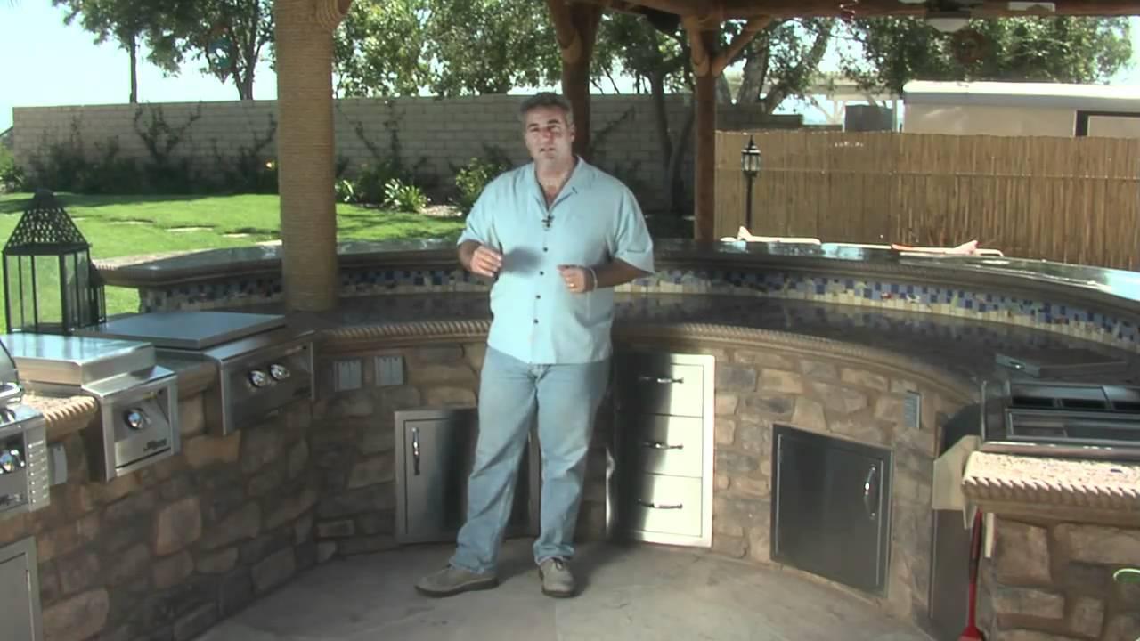 outdoor kitchen bar kitchener triple basket deep fryer circular and youtube