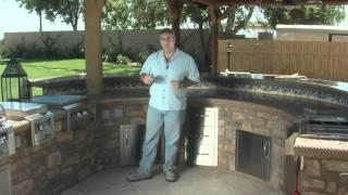 Circular Outdoor Kitchen And Bar