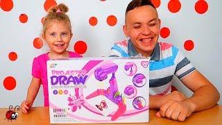 Desenam cu Ajutorul Luminii   Draw Projector   Video pentru Copii
