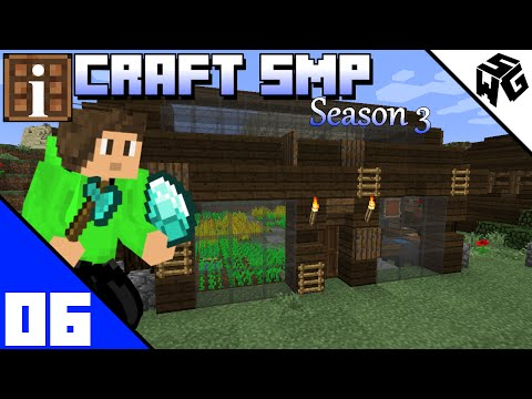 Building A Cool Green House - iCraft SMP Minecraft Vanilla Survivial 1.10 :: S3 Ep06