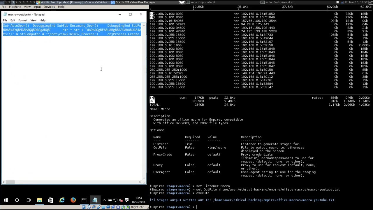 PowerShell Empire - Compromise Win10 with a Macro Embedded Word File