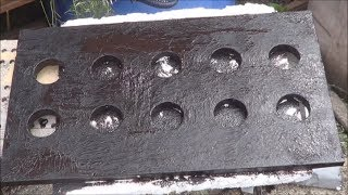 Liquid Rubber Test #1 - A Raft for my SWC Aquaponic Garden Bed