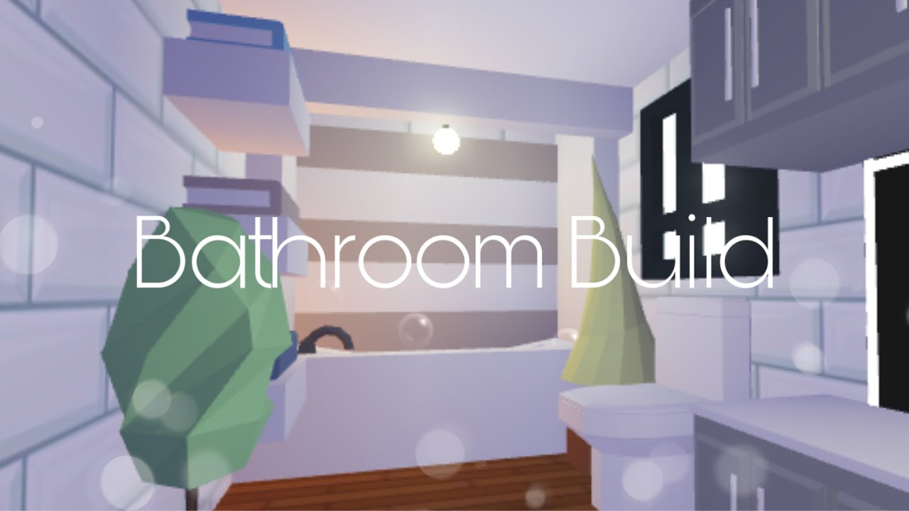 Adopt Me Bathroom Build Mushroom Home Youtube