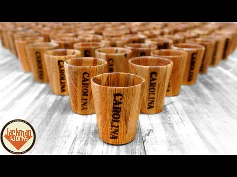 Pallet Wood Shot Glasses (100 of them!)