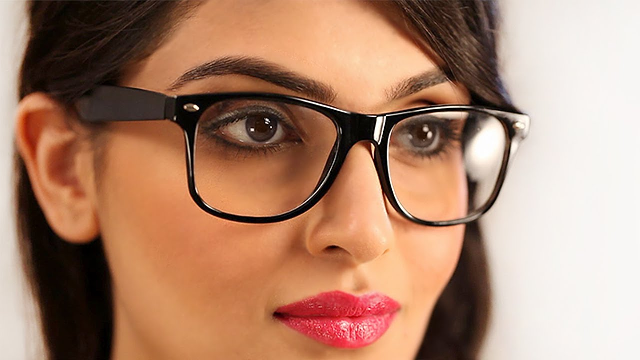 Makeup For Glasses Geek Chic Indian Women - YouTube