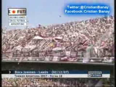 Boca 1 Lanus 1 (Relato Sebastian Vignolo ) Torneo Apertura 2007 Los ...