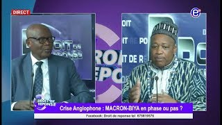 DROIT DE REPONSE (PARLEMENT PANAFRICAIN, CRISE ANGLOPHONE, UNION AFRICAINE)  08 07 18