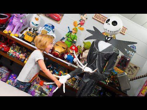 HUGE Halloween Jack Skellington Surprise Toys for Girls Blind Bags Surprise Eggs Kinder Playtime