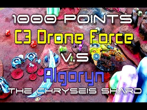 BtGoA - 1000pts - Chryseis Shard Battle Report - Algoryn vs Concord Drone Force