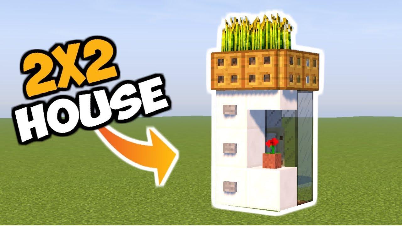 Minecraft Tutorial Cara Membuat Rumah Modern Ukuran 2x2