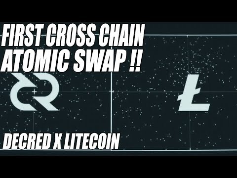 ALTCOIN NEWS !! DECRED - LITECOIN CROSS CHAIN ATOMIC SWAP !!