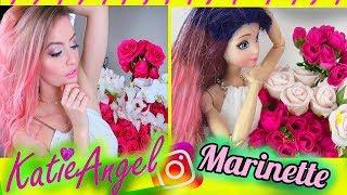 Marinette imita fotos del instagram de Katie Angel