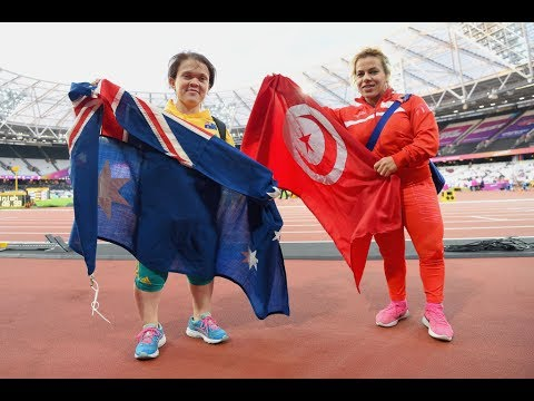 Raoua Tlili   Gold Women's Shot Put F41  Final   London 2017 World Para Athletics Championships