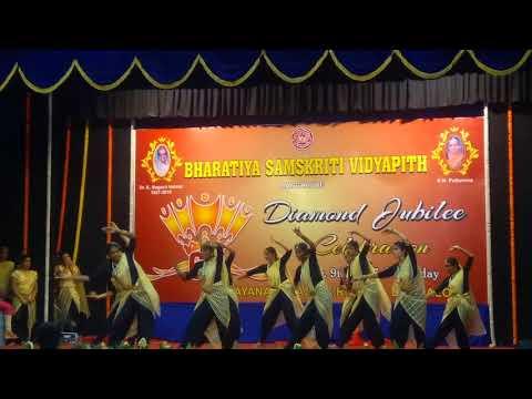 Fast Flute dance by BSVP girls ramanagaram