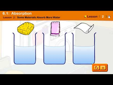 Absorption/ Materials that Absorb Water