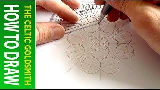 How To Draw Celtic Patterns 94 - Spiral Celtic Cross/mandala 2of8