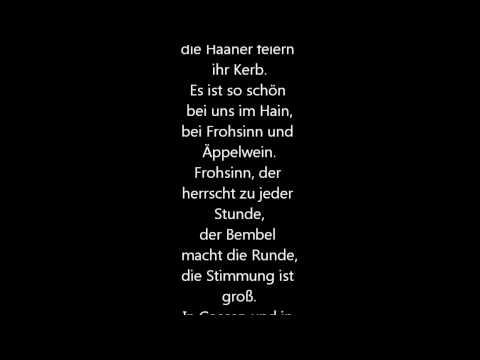 Haaner Kerb-Lieder - 275. Haaner Kerb