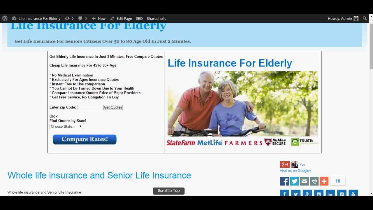 Whole Life Insurance Quotes For Seniors Magnificent Whole Life Insurance For Seniors  Youtube