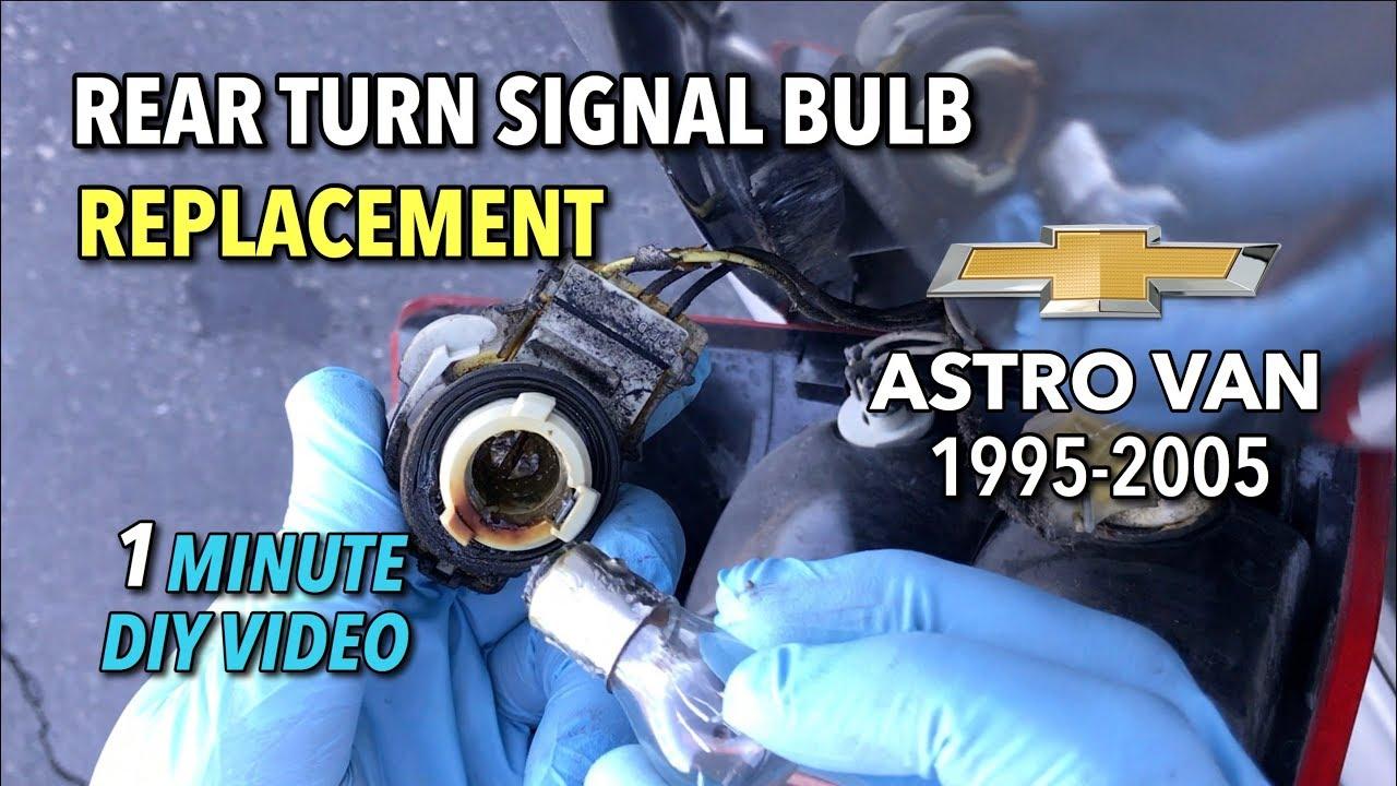 Chevy Astro Van Rear Turn Signal Bulb Replacement - 1995-2005 (GMC Safari)-  1 Minute DIY Video