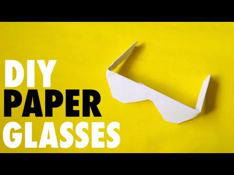 DIY PAPER GLASSES