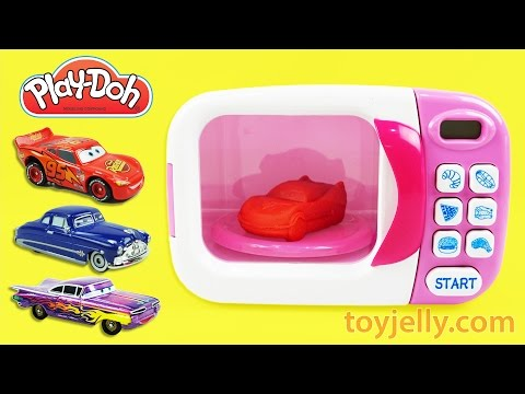 Thumbnail: Play Doh Cooking Microwave Oven Playset Learn Colors Disney Cars Modeling Clay PJ Masks Paw Patrol