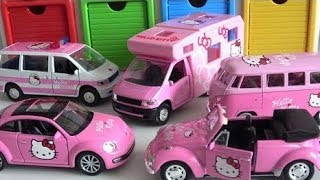 ★Hello Kitty car toys with Tayo the Little Bus Garage toy