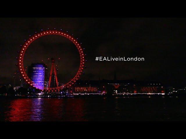 #EALiveInLondon - Emporio Armani projection over London Eye and County Hall