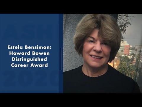 2020 Howard Bowen Distinguished Career Award: Estela Mara ...