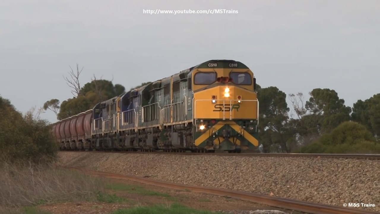FIVE C's on Massive 101 wagon SSR Grain Train in South Australia