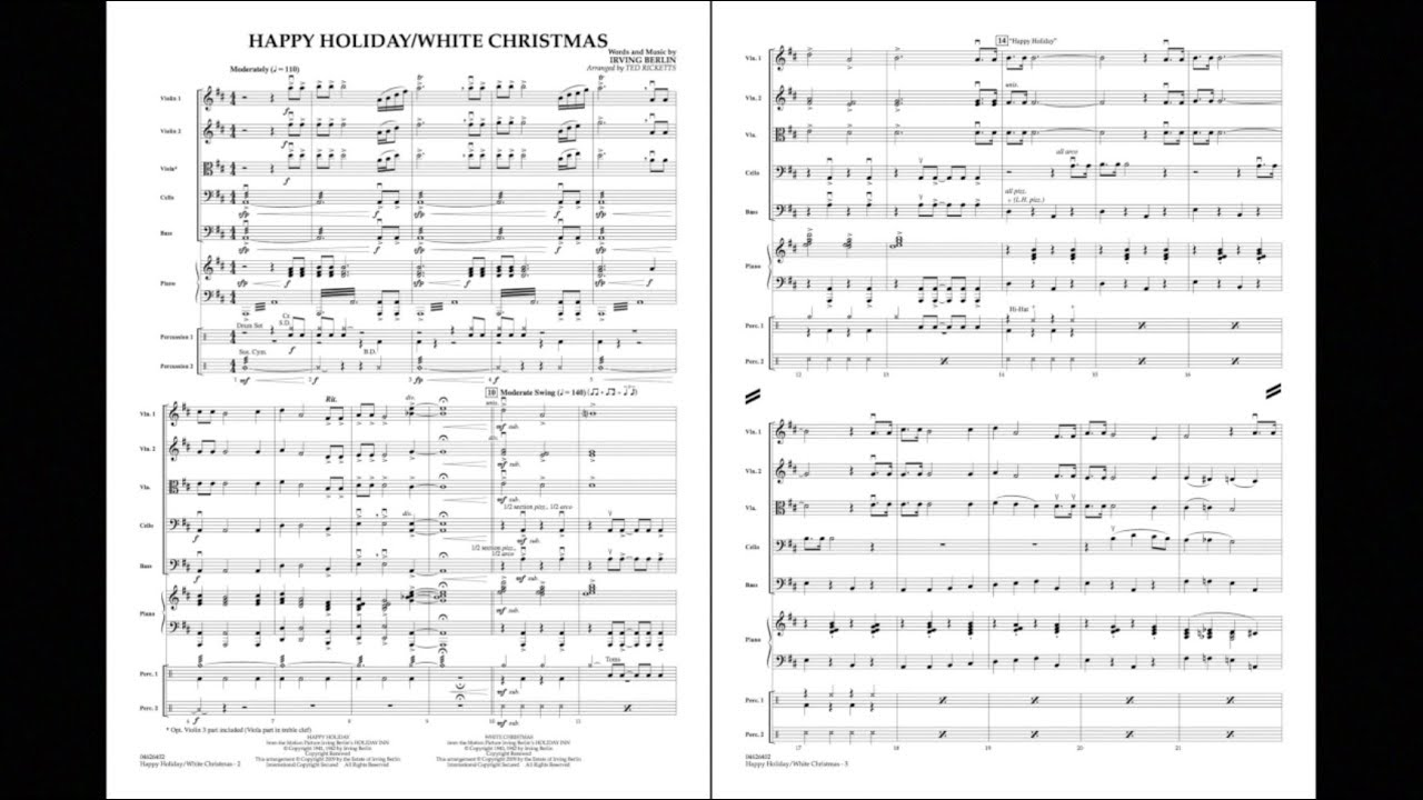 Happy Holiday/White Christmas by Irving Berlin/arr. Ted Ricketts ...