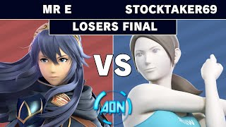 AON Ultimate #048 - Demise | Mr E (Lucina) Vs GG | Stocktaker69 (Wii Fit Trainer) Losers Finals