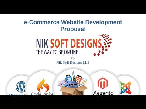 eCommerce Website Proposal by Nik Soft Designs LLP