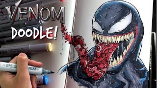 EPIC VENOM DOODLE!! | Copic Marker Illustration by Shrimpy
